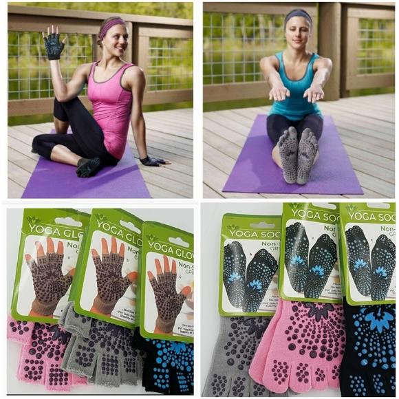 Lotus Yoga Grip Gloves Pilates NEW!